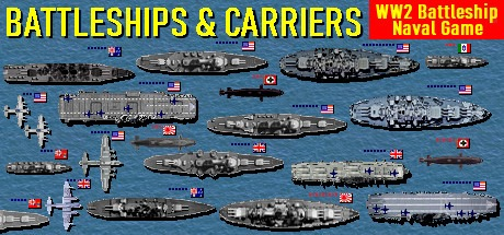 Battleships and Carriers - WW2 Battleship Game Free Download