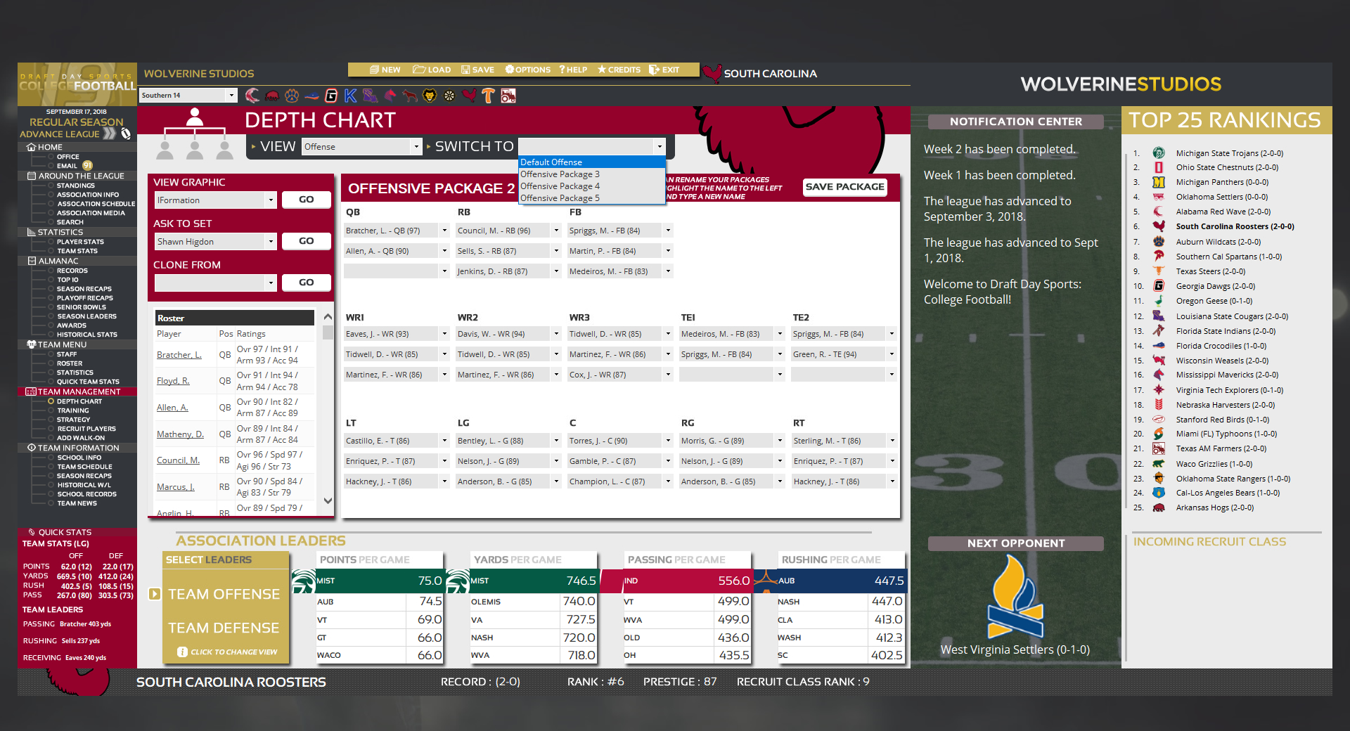 Draft Day Sports: College Football 2019 Free Download