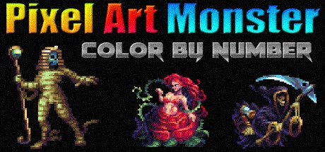 Pixel Art Monster - Color by Number Free Download