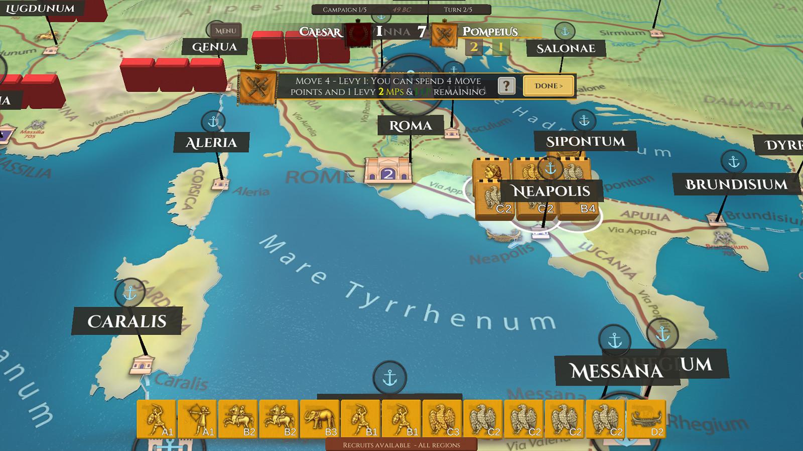 Screenshot of Blocks! Julius Ceaser gameplay