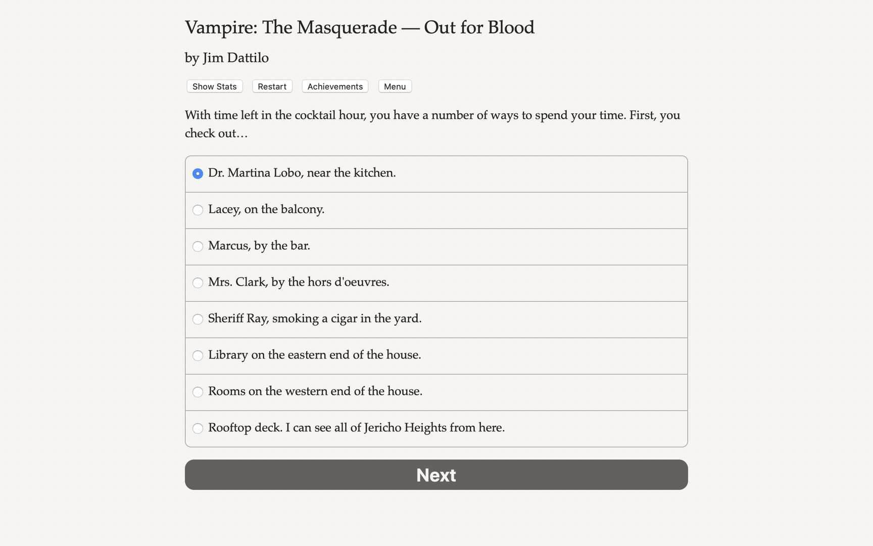 Vampire: The Masquerade — Out for Blood Free Download